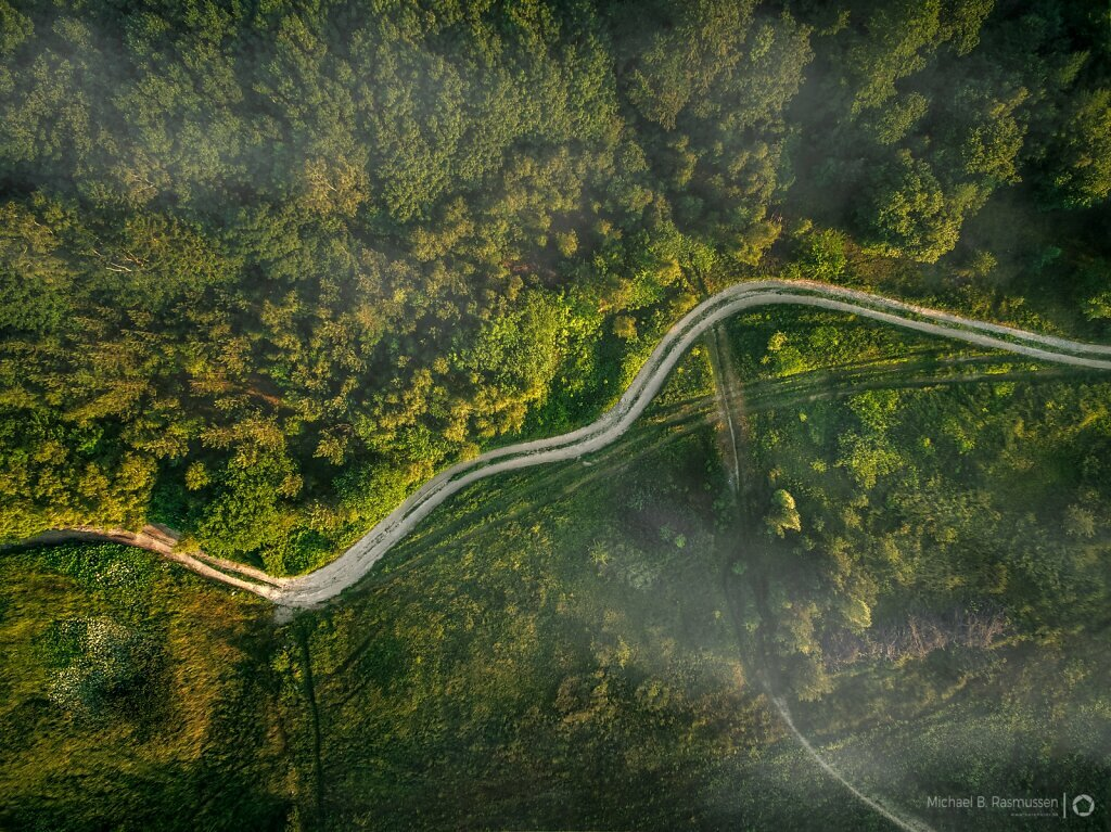 Curvy country road