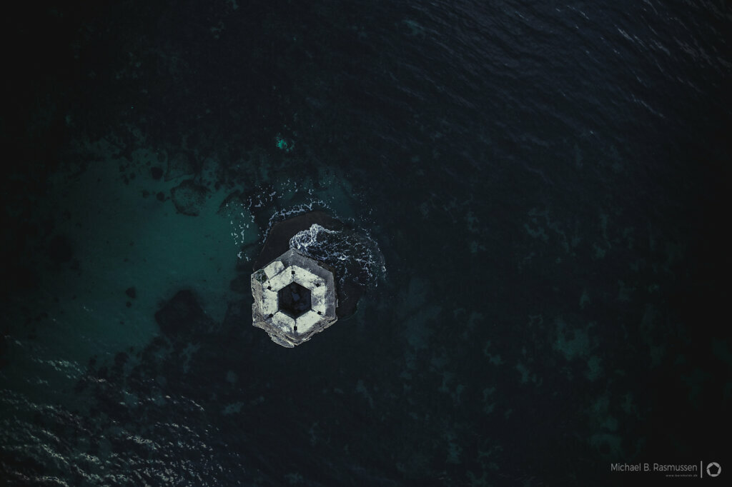 The bunker in the sea